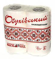 """Туалетная бумага """"Обухівський"""" белая 4 рулона 2 слоя"""