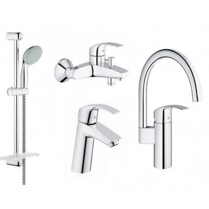 Grohe Eurosmart 123248MK набор смесителей кухни и ванной M-Size