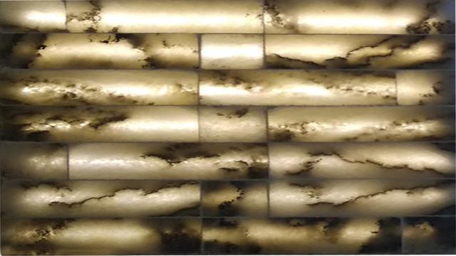 Плитка из соли с подсветкой