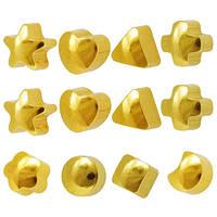 Серьги для прокола ушей формы ассорти Caflon Gold 12 пар