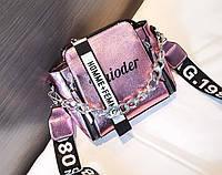 Женская сумка голограммная через плечо, Жіноча сумочка голограмма, Женский клатч