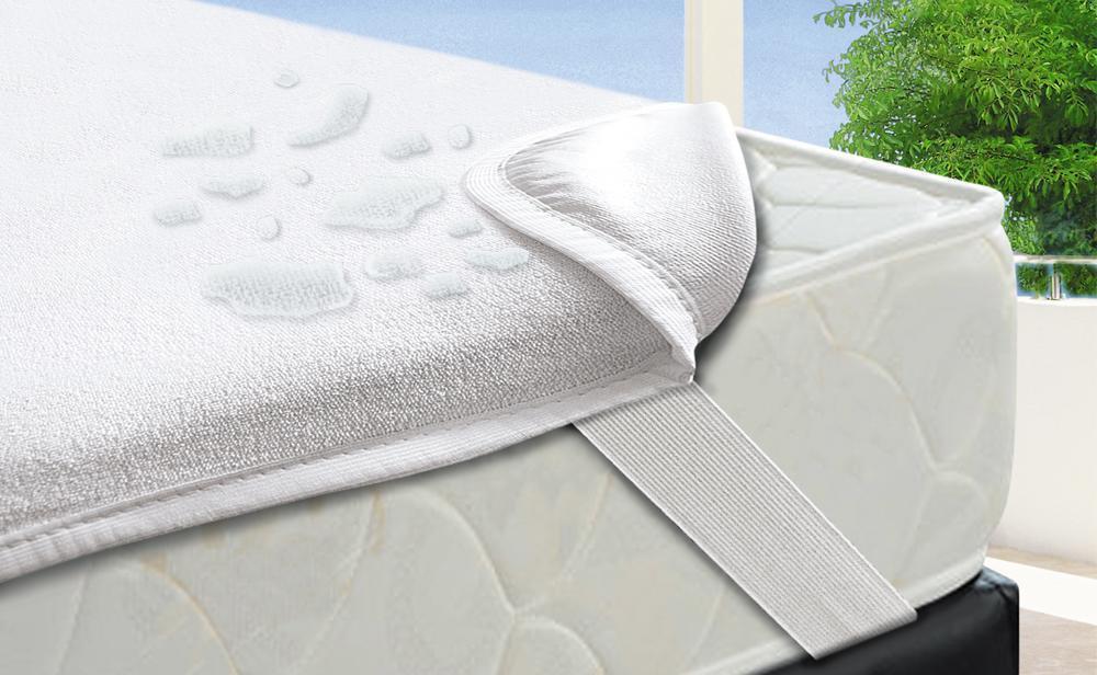 Наматрасник водонепроницаемый АКВА-СТОП 100х190(200) с угловыми резинками для гостиниц