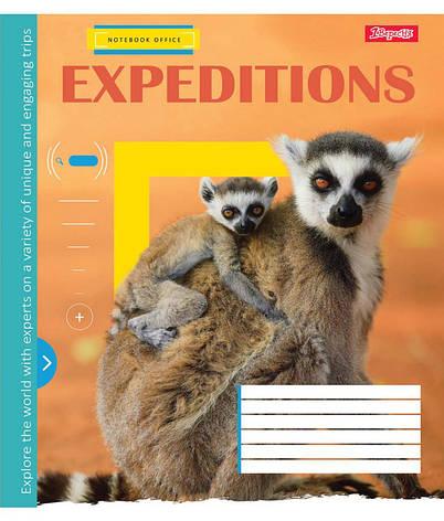 Тетрадь в клетку 24 л 1 Вересня А5 Expeditions микс 4 обложки (762431), фото 2