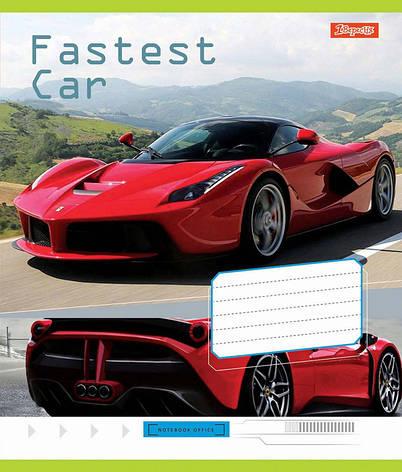 Тетрадь в косую 12 л. 1 Вересня А5 Fastest car 761873, фото 2