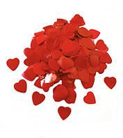 Конфетти Сердечки 25 мм, цвет красный, 50 г.