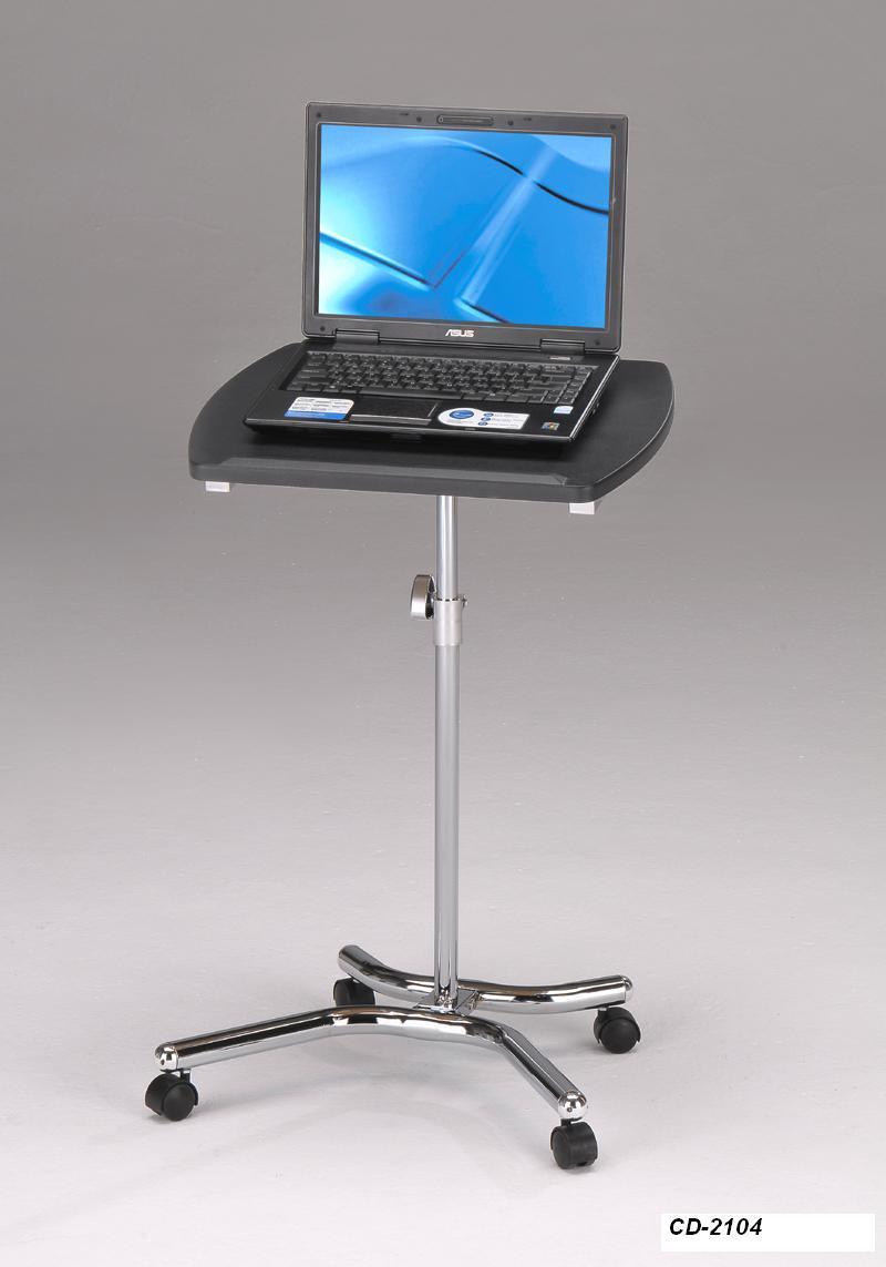 Передвижной столик для ноутбука с черной столешницей, мобильный стол для ПК