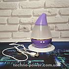 Увлажнитель воздуха 250 мл Вулкан/Капля ультразвуковой Фиолетовый. Увлажнитель воздуха для дома с подсветкой, фото 4