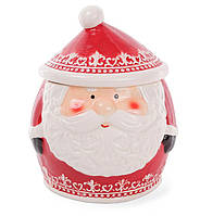 """Красивая новогодняя банка керамическая для хранения сладостей """"Санта Клаус"""" 2.8 л"""
