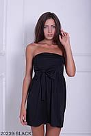 Симпатичное двухцветное кукольное платье с бантом  Aleksis XXL, Black