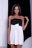 Симпатичное двухцветное кукольное платье с бантом  Aleksis XXL, White