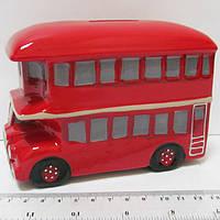 """Копилка керамич. """"Автобус"""" 13.5*6*9.5см"""