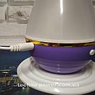 Увлажнитель воздуха 250 мл Вулкан/Капля ультразвуковой Фиолетовый. Увлажнитель воздуха для дома с подсветкой, фото 6