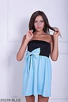 Симпатичное двухцветное кукольное платье с бантом  Aleksis XXL, Blue