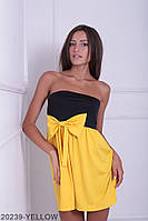 Симпатичное двухцветное кукольное платье с бантом  Aleksis XXL, Yellow