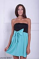 Симпатичное двухцветное кукольное платье с бантом  Aleksis XXL, Mint