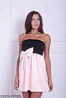 Симпатичное двухцветное кукольное платье с бантом  Aleksis XXL, Rose