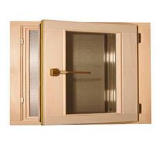 Окно для бани Tesli деревянное 500х600 мм поворотное