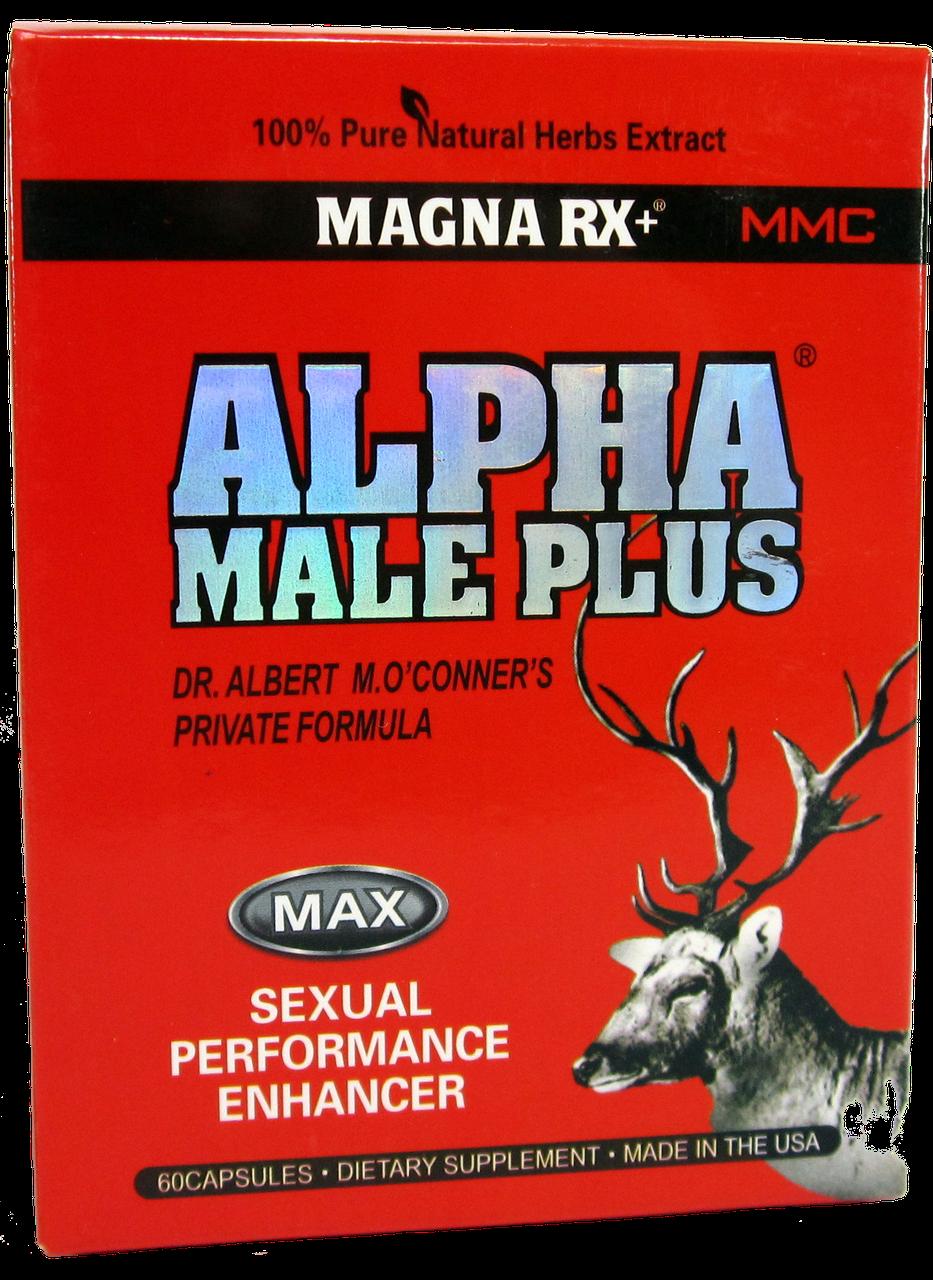 Капсулы для потенции и увеличения пениса Alpha Male Plus