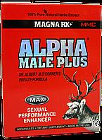 Капсулы для потенции и увеличения пениса Alpha Male Plus, фото 1