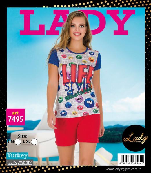 Футболка с шортами LADY LINGERIE 7495