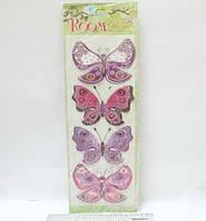 "Наклейки комната декор ""Бабочки тропические"""