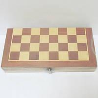 """Игра настольная """"3-в-1 Шахматы, шашки, нарды"""" в деревянной коробке"""