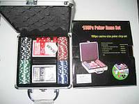 """Игра настольная Poker """"Набор для покера"""" в металл. чемод."""