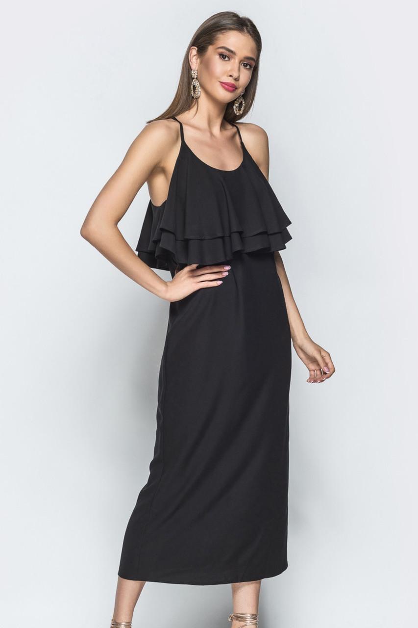 (S, M, L) Красиве чорне жіноче плаття Milisen