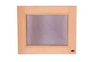 Окно для бани Tesli деревянное 500х600 мм глухое