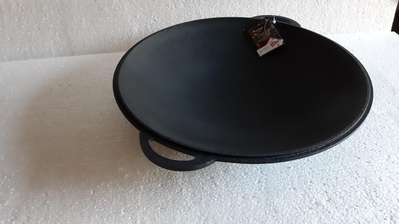САДЖ крышка сковорода Ситон, покрытая черной матовой эмалью. Диаметр 400 мм
