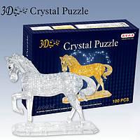 "Пазлы кристал ""Конь"" прозр.,коричн."