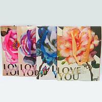 """Пакет бумага """"Роза"""" mix4"""