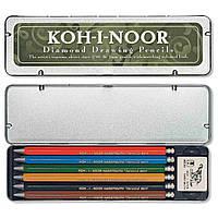 "Набір цангових олівців ""Kooh-i-noor"" 5217 Diamond Pencils, мет.пенал, 6 шт., шт"