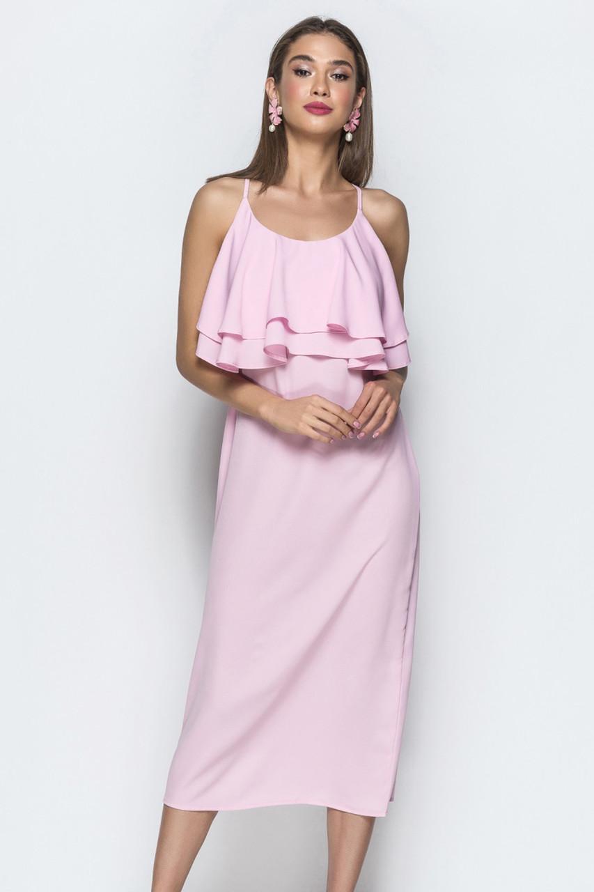 (S, M, L) Красиве рожеве жіноче плаття Milisen