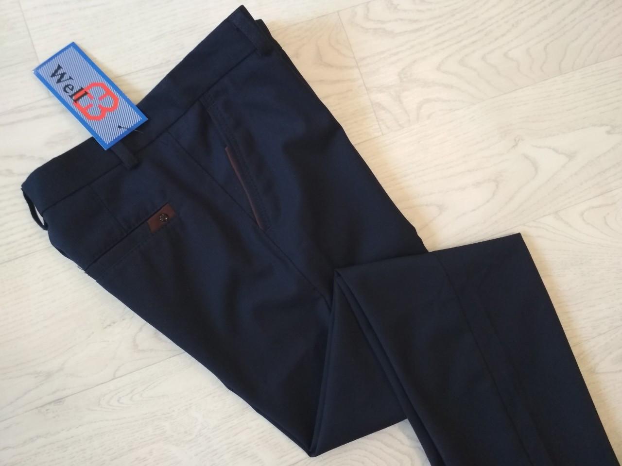 Школьные брюки без стрелок для мальчика р. 128, 134