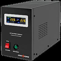 ДБЖ з правильною синусоїда LogicPower LPY-B-PSW-1500VA+(1050W)10A/15A 24V для котлів та аварійного, фото 1