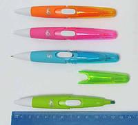 "Ручка 0,7мм син + Текстовыделитель Beifa ""2-в-1"", скош.наконечн., роз., оранж.,зел.,син."