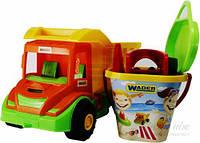 Машина - грузовик и набор для песка с 11 элементов Wader (70340)