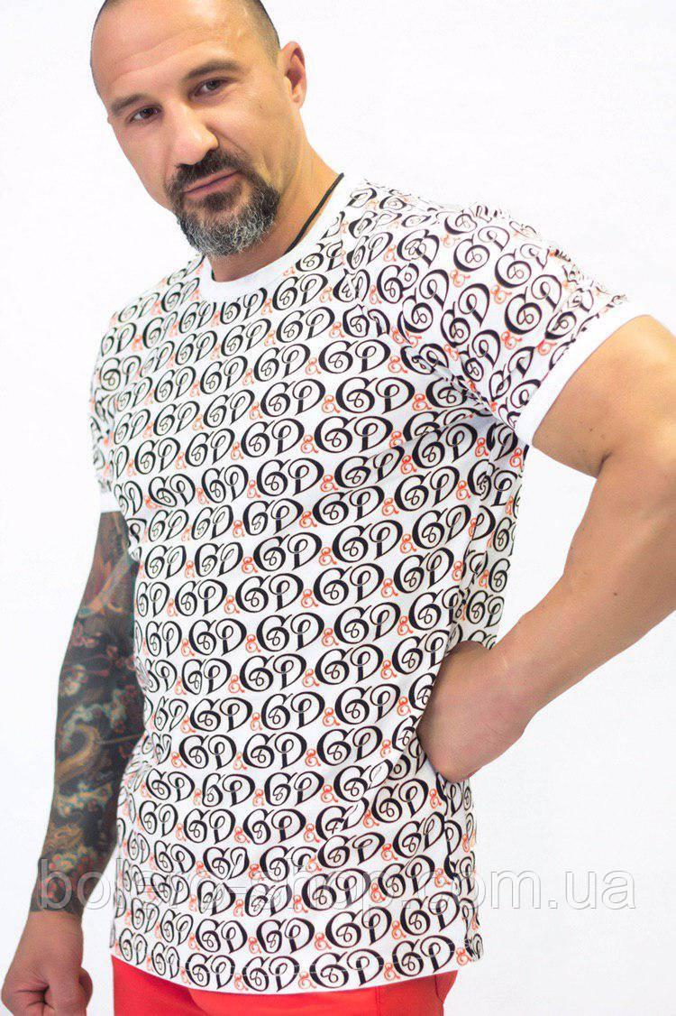 Футболка мужская  Dolce & Gabbana белая с логотипом
