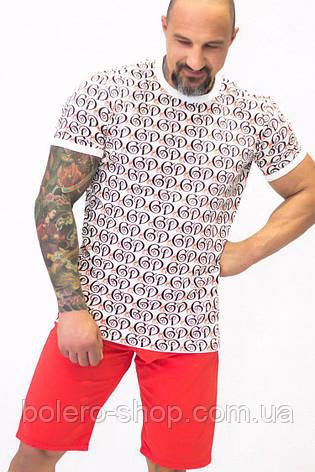Футболка мужская  Dolce & Gabbana белая с логотипом, фото 2