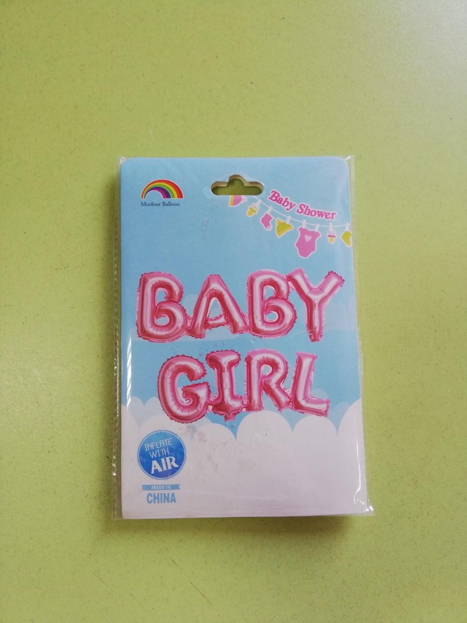 "Гелієва кулька Напис ""Baby Girl"""