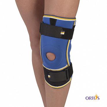 Бандаж коленного сустава с ребрами жесткости неопреновый Алком 4022, 1,2,3,4 размер