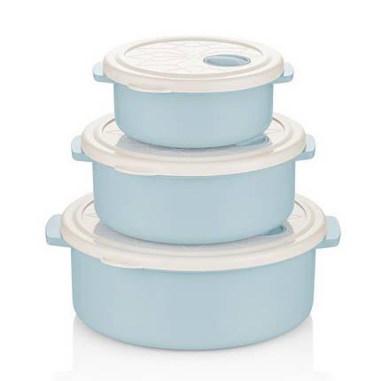 Набор контейнеров BAGER WHITE&BLUE 3 предмета (BG-421 B), фото 2