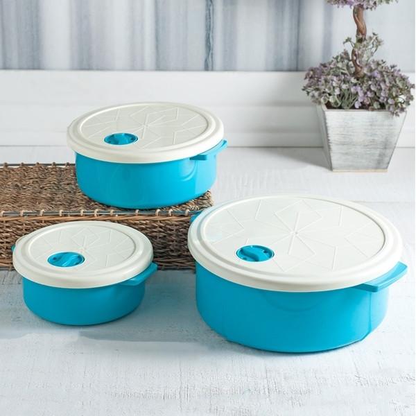 Набор контейнеров BAGER WHITE&BLUE 3 предмета (BG-421 B)