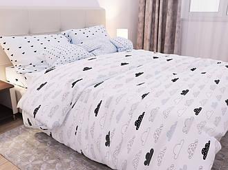 Семейный комплект 150х220 (2 шт) постельного белья из бязи голд  «Нежное облако»