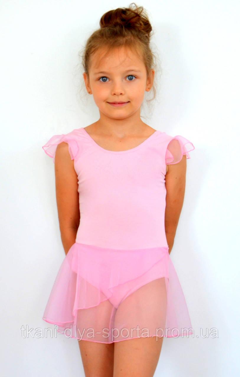 Купальник с юбочкой-хитоном нежно-розовый