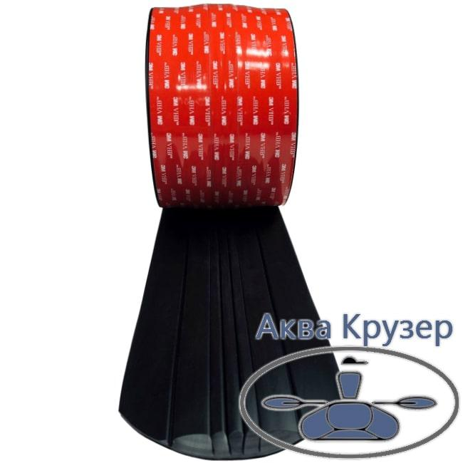 Защита киля АрморКиль 400 см для пластиковой лодки или катера, цвет черный