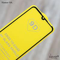 Защитное стекло Full Glue для Honor 8A (черный) (клеится всей поверхностью)