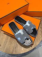 Блестящие шлепанцы Hermès , фото 1