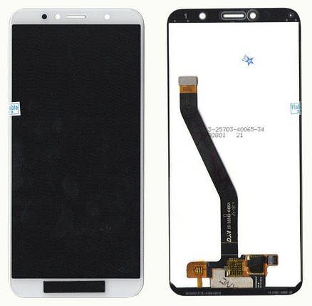 "Дисплей + сенсор для Huawei Honor 7A Pro 5.7"" / Honor 7C 5.7"" / Y6 2018 / Y6 Prime 2018 White с передней панелью, фото 2"